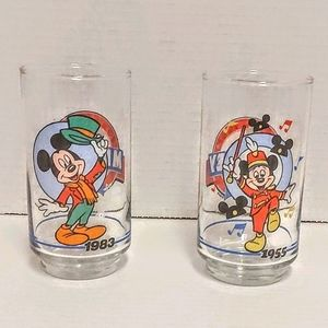 2 Vintage Disney 1928-1988 Mickey Mouse glasses